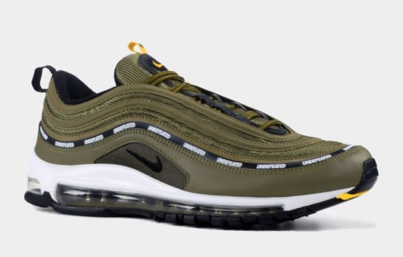 Фото Undefeated x Nike Air Max 97 зеленые с белым - 2
